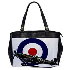 Spitfire And Roundel Oversize Office Handbag (one Side)