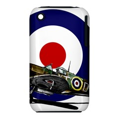 Spitfire And Roundel Apple Iphone 3g/3gs Hardshell Case (pc+silicone)