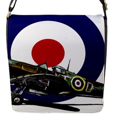 Spitfire And Roundel Flap Closure Messenger Bag (small)