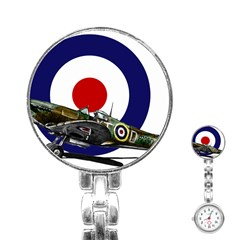 Spitfire And Roundel Stainless Steel Nurses Watch