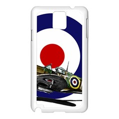 Spitfire And Roundel Samsung Galaxy Note 3 N9005 Case (White)