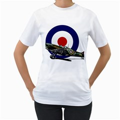 Spitfire And Roundel Women s T-Shirt (White)