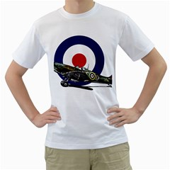 Spitfire And Roundel Men s T-Shirt (White)