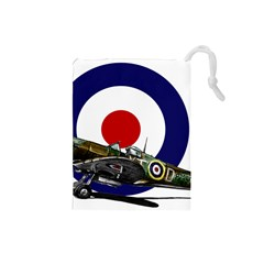 Spitfire And Roundel Drawstring Pouch (small)