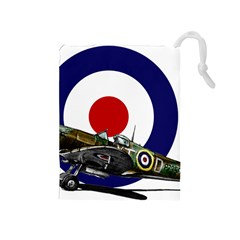 Spitfire And Roundel Drawstring Pouch (medium)