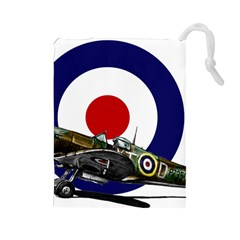 Spitfire And Roundel Drawstring Pouch (Large)