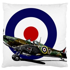 Spitfire And Roundel Standard Flano Cushion Case (One Side)