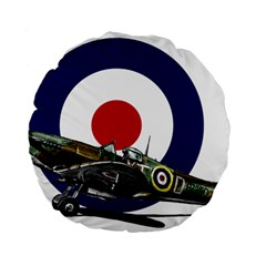Spitfire And Roundel 15  Premium Flano Round Cushion