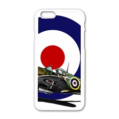 Spitfire And Roundel Apple Iphone 6 White Enamel Case