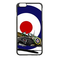 Spitfire And Roundel Apple iPhone 6 Plus Black Enamel Case