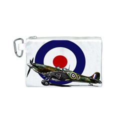 Spitfire And Roundel Canvas Cosmetic Bag (Small)