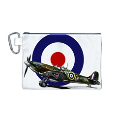 Spitfire And Roundel Canvas Cosmetic Bag (Medium)