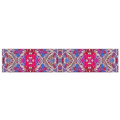 Colorful Ornate Decorative Pattern Flano Scarf (Small)