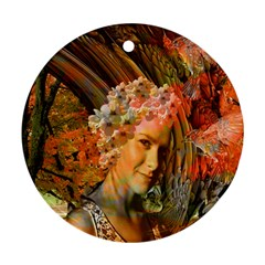 Autumn Round Ornament (two Sides)
