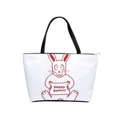 Cute Bunny Happy Easter Drawing I Large Shoulder Bag