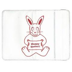 Cute Bunny Happy Easter Drawing i Samsung Galaxy Tab 7  P1000 Flip Case