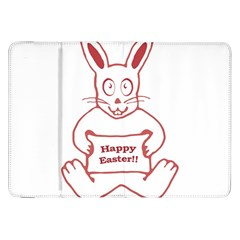 Cute Bunny Happy Easter Drawing I Samsung Galaxy Tab 8 9  P7300 Flip Case