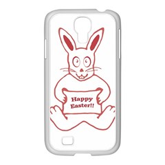Cute Bunny Happy Easter Drawing I Samsung Galaxy S4 I9500/ I9505 Case (white)