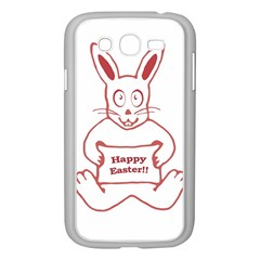 Cute Bunny Happy Easter Drawing I Samsung Galaxy Grand Duos I9082 Case (white)