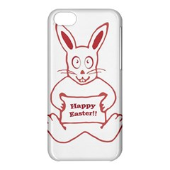 Cute Bunny Happy Easter Drawing I Apple Iphone 5c Hardshell Case