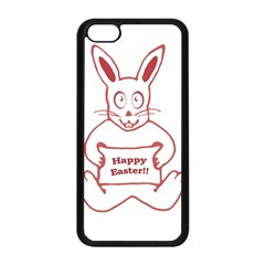 Cute Bunny Happy Easter Drawing I Apple Iphone 5c Seamless Case (black)
