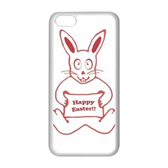 Cute Bunny Happy Easter Drawing i Apple iPhone 5C Seamless Case (White)