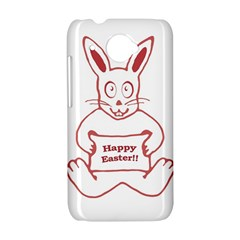 Cute Bunny Happy Easter Drawing i HTC Desire 601 Hardshell Case