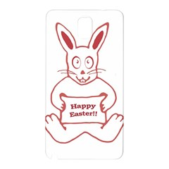 Cute Bunny Happy Easter Drawing i Samsung Galaxy Note 3 N9005 Hardshell Back Case