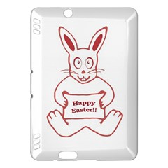 Cute Bunny Happy Easter Drawing i Kindle Fire HDX Hardshell Case