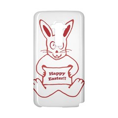Cute Bunny Happy Easter Drawing i LG G Flex D958 Hardshell Case