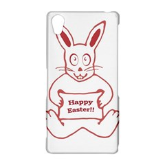Cute Bunny Happy Easter Drawing i Sony Xperia Z2 Hardshell Case