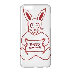 Cute Bunny Happy Easter Drawing i Apple iPhone 6 Plus Hardshell Case