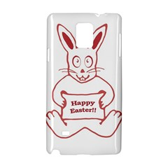 Cute Bunny Happy Easter Drawing i Samsung Galaxy Note 4 Hardshell Case