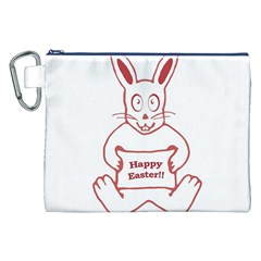 Cute Bunny Happy Easter Drawing i Canvas Cosmetic Bag (XXL)