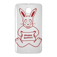 Cute Bunny Happy Easter Drawing i Google Nexus 6 Case (White)