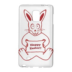 Cute Bunny Happy Easter Drawing i Samsung Galaxy Note Edge Hardshell Case