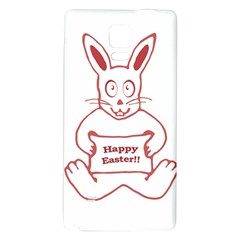 Cute Bunny Happy Easter Drawing I Samsung Note 4 Hardshell Back Case