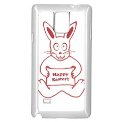 Cute Bunny Happy Easter Drawing I Samsung Galaxy Note 4 Case (white)