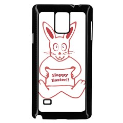 Cute Bunny Happy Easter Drawing i Samsung Galaxy Note 4 Case (Black)