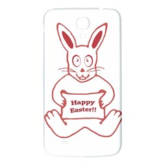 Cute Bunny Happy Easter Drawing I Samsung Galaxy Mega I9200 Hardshell Back Case