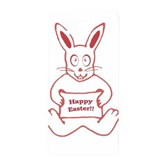Cute Bunny Happy Easter Drawing i Samsung Galaxy Alpha Hardshell Back Case