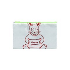 Cute Bunny Happy Easter Drawing I Cosmetic Bag (xs)