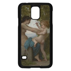 William Adolphe Bouguereau A Young Girl Defending Herself Against Eros Samsung Galaxy S5 Case (Black)