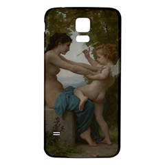 William Adolphe Bouguereau A Young Girl Defending Herself Against Eros Samsung Galaxy S5 Back Case (White)