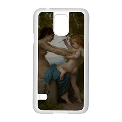 William Adolphe Bouguereau A Young Girl Defending Herself Against Eros Samsung Galaxy S5 Case (White)