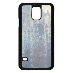 Monet The Portal Of Rouen Cathedral In Morning Light Samsung Galaxy S5 Case (Black)