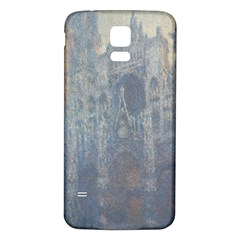 Monet The Portal Of Rouen Cathedral In Morning Light Samsung Galaxy S5 Back Case (White)