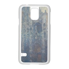 Monet The Portal Of Rouen Cathedral In Morning Light Samsung Galaxy S5 Case (White)
