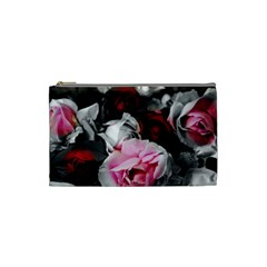 Black And White Roses Cosmetic Bag (small)