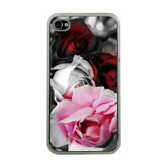 Black And White Roses Apple Iphone 4 Case (clear)